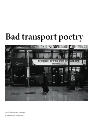 Bad transport poetry