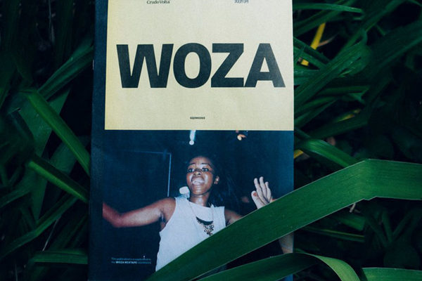 WOZA mini newspaper of photography from Durban's gqom dance scene. Printed to accompany the release of the Gqom Oh! X Crudo Woza mixtape.