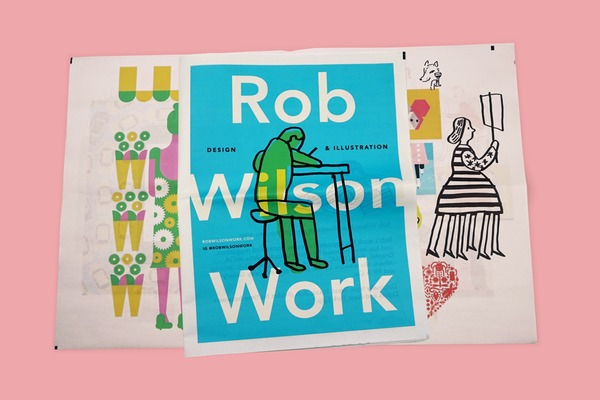 We talked to illustrator Rob Wilson about his newsprint portfolio.