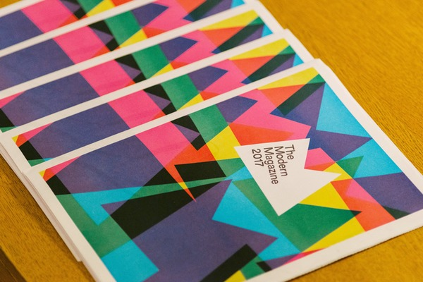 Newspaper programme for Modern Magazine 2017 conference from magCulture. Printed by Newspaper Club.