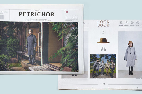 Petrichor traditional broadsheet fashion catalogue newspaper