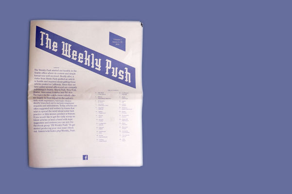 The Weekly Push, a digital tabloid newspaper for Facebook's engineering team