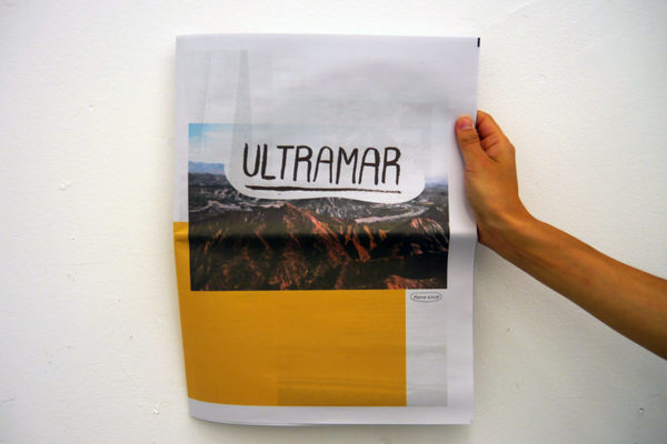 Newspaper of the Month: Travel journal Ultramar from graphic designer Manon Raupp